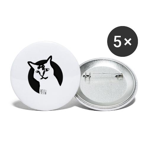 CAT MEOW - Buttons small 1'' (5-pack)