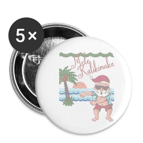 Ugly Christmas Sweater Hawaiian Dancing Santa - Buttons small 1'' (5-pack)