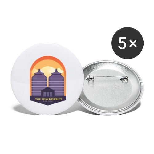 The Silos in Waco - Buttons small 1'' (5-pack)