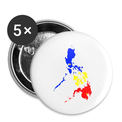 Philippines map art - Buttons small 1'' (5-pack)