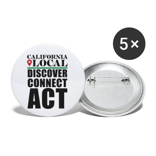 California Locals Make it Better - Buttons small 1'' (5-pack)