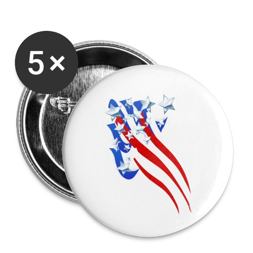 Sweeping Old Glory - Buttons small 1'' (5-pack)