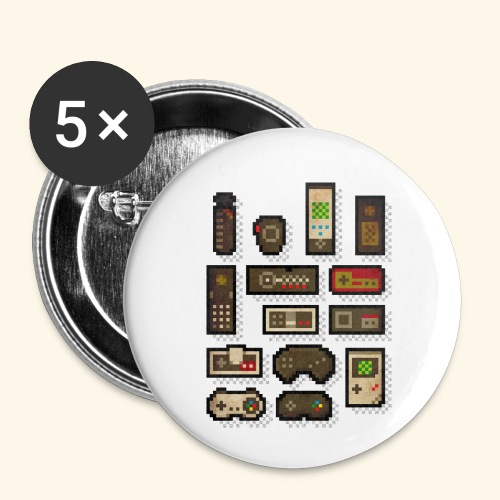 pixelcontrol - Buttons small 1'' (5-pack)
