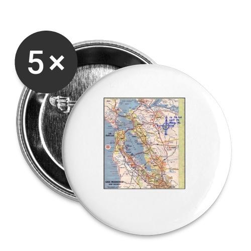 Phillips 66 Zodiac Killer Map June 26 - Buttons small 1'' (5-pack)