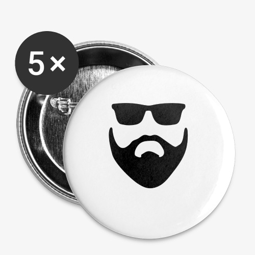 Beard & Glasses - Buttons small 1'' (5-pack)