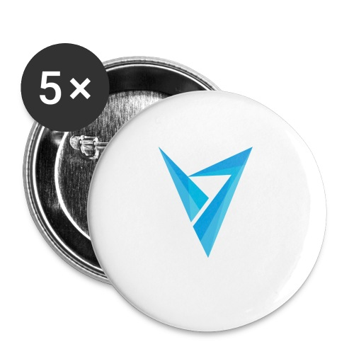 v logo - Buttons small 1'' (5-pack)