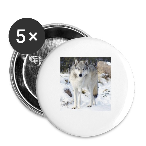 Canis lupus occidentalis - Buttons small 1'' (5-pack)