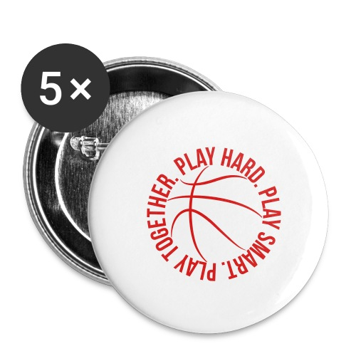 play smart play hard play together basketball team - Buttons small 1'' (5-pack)