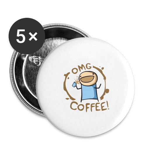 OMG COFFEE - Buttons small 1'' (5-pack)