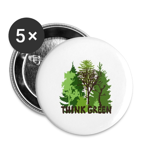 EARTHDAYCONTEST Earth Day Think Green forest trees - Buttons small 1'' (5-pack)