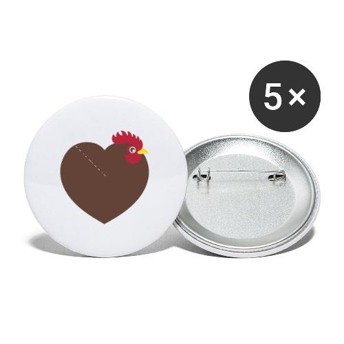 I love chickens - Buttons small 1'' (5-pack)