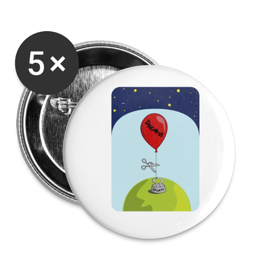 dreams balloon and society 2018 - Buttons small 1'' (5-pack)