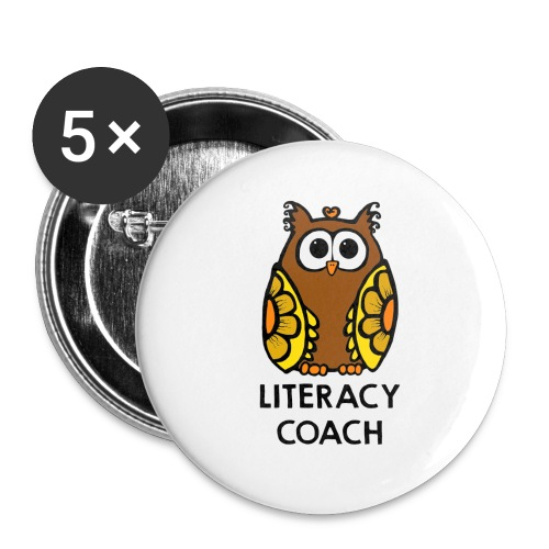 literacy coach png - Buttons small 1'' (5-pack)