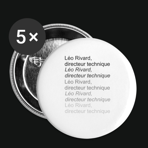 LEO TECHNICAL Rivard - Buttons small 1'' (5-pack)
