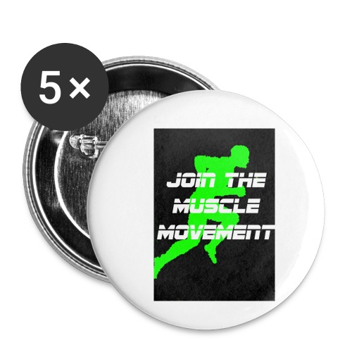 muscle movement - Buttons small 1'' (5-pack)