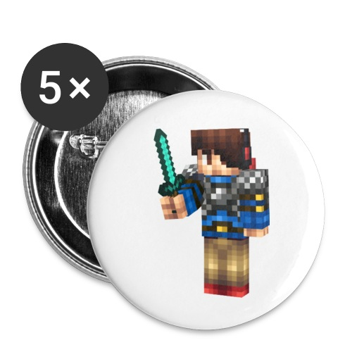 TJtheDJ Diamond Sword Design SMALL - Buttons small 1'' (5-pack)