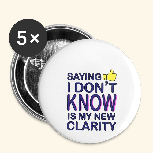 new clarity - Buttons small 1'' (5-pack)