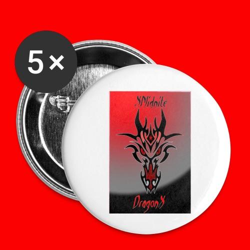 XMidniteDragonX - Buttons small 1'' (5-pack)