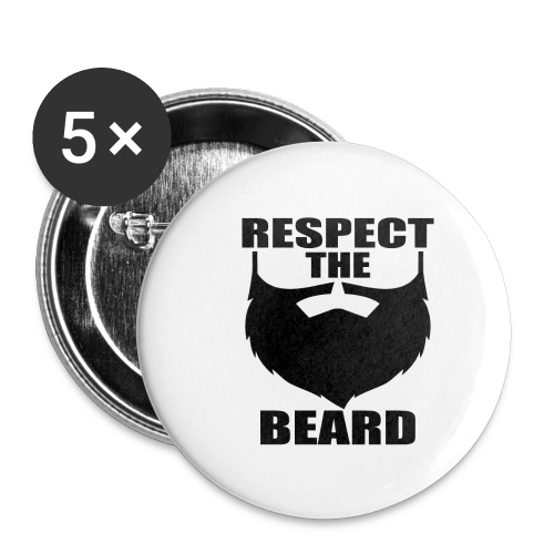 Respect the beard 03 - Buttons small 1'' (5-pack)