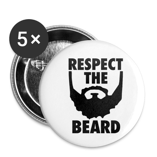 Respect the beard 05 - Buttons small 1'' (5-pack)
