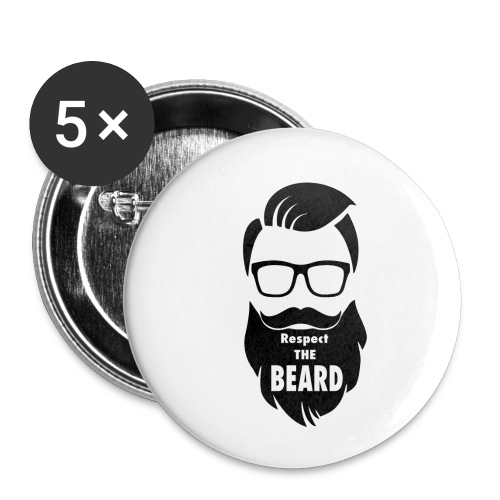 Respect the beard 08 - Buttons small 1'' (5-pack)