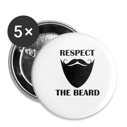 Respect the beard 07 - Buttons small 1'' (5-pack)