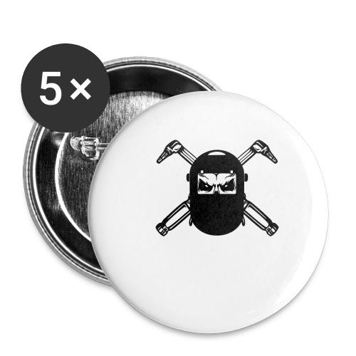 Welder Skull - Buttons small 1'' (5-pack)