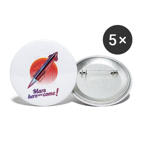 Mars Here We Come - Light - Buttons small 1'' (5-pack)