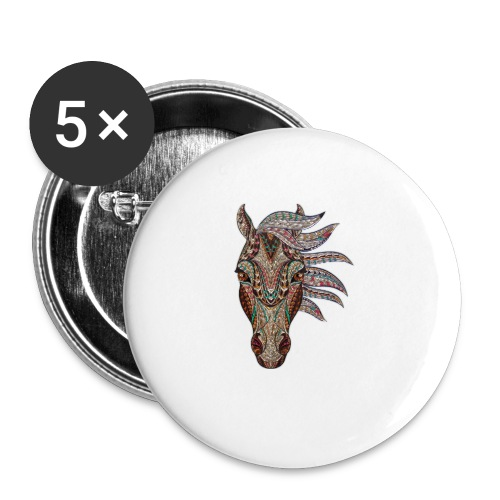 Horse head - Buttons small 1'' (5-pack)