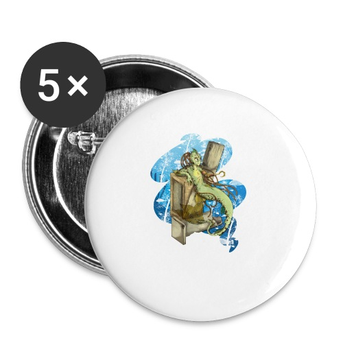 Alien merman - Buttons small 1'' (5-pack)