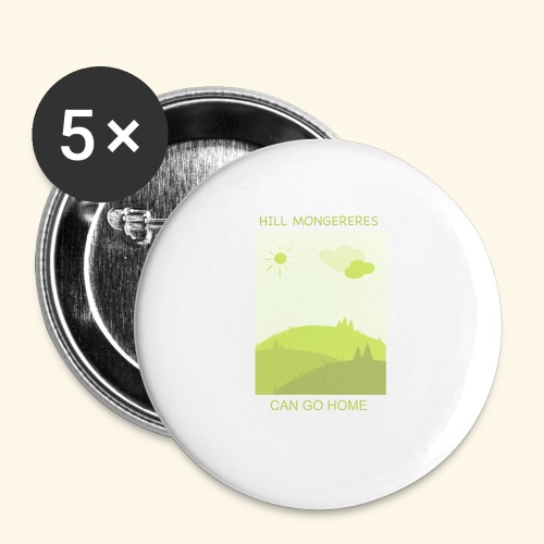 Hill mongereres - Buttons small 1'' (5-pack)