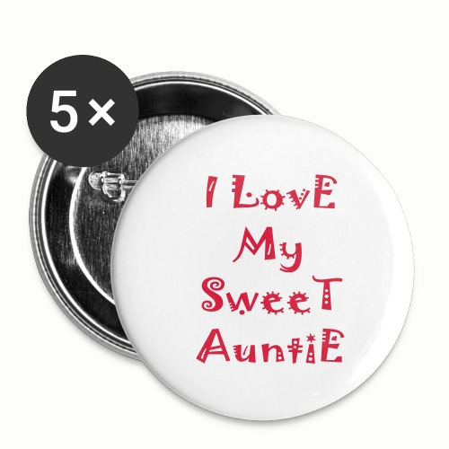 I love my sweet auntie - Buttons small 1'' (5-pack)