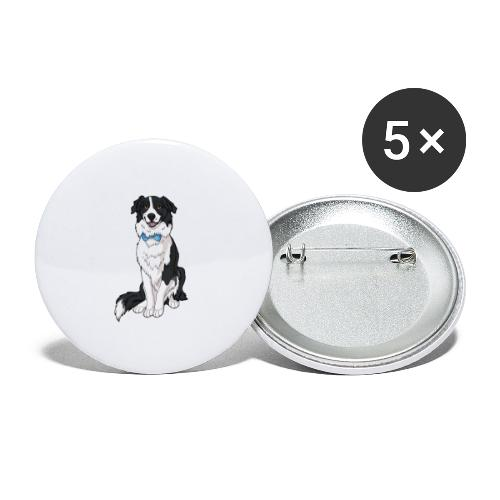 Border Collie Frankie - Transparent Background - Buttons small 1'' (5-pack)