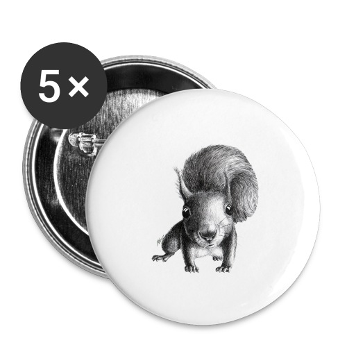 Cute Curious Squirrel - Buttons small 1'' (5-pack)