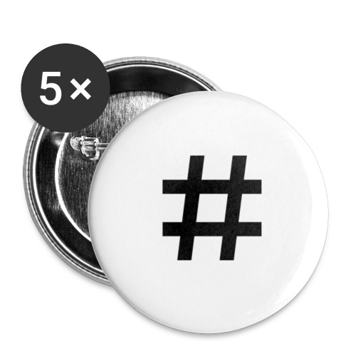 Hashtag Merch - Buttons small 1'' (5-pack)