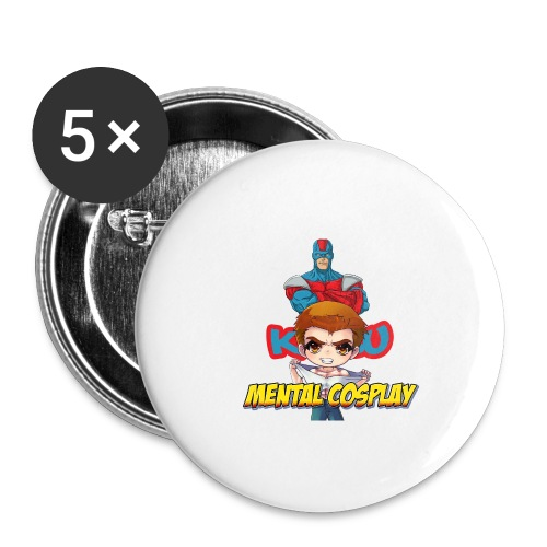 KATSU MENTAL COSPLAY - Buttons small 1'' (5-pack)