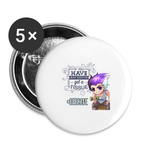 BE BRAVE - Buttons small 1'' (5-pack)