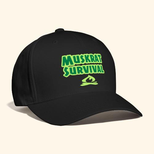 Muskrat Survival text - Baseball Cap