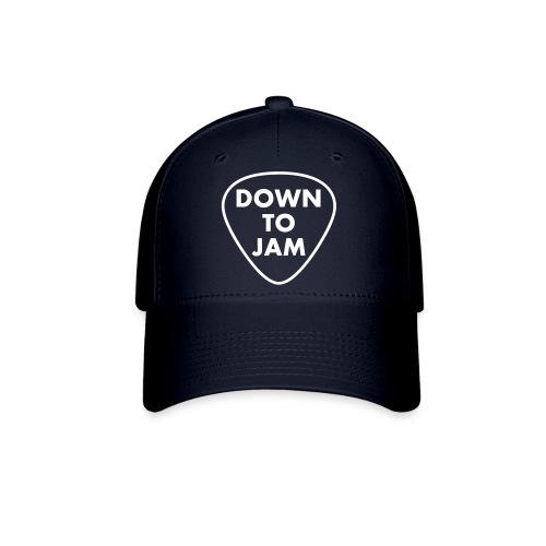 DownToJam white logo noTM - Baseball Cap