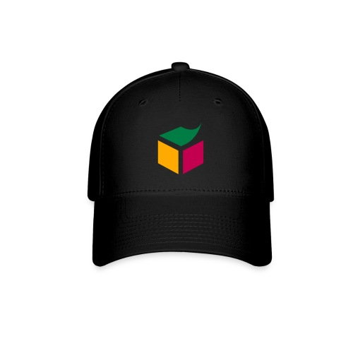 Semantic Web Cube orange light green purple - Baseball Cap