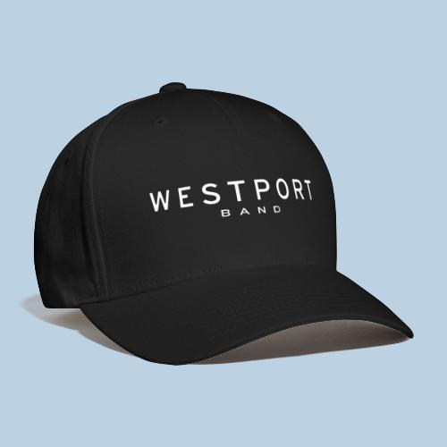 Westport Text White on transparent - Baseball Cap