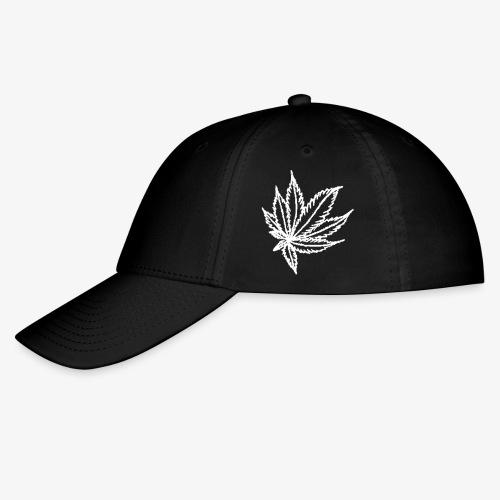white leaf w/myceliaX.com logo - Baseball Cap
