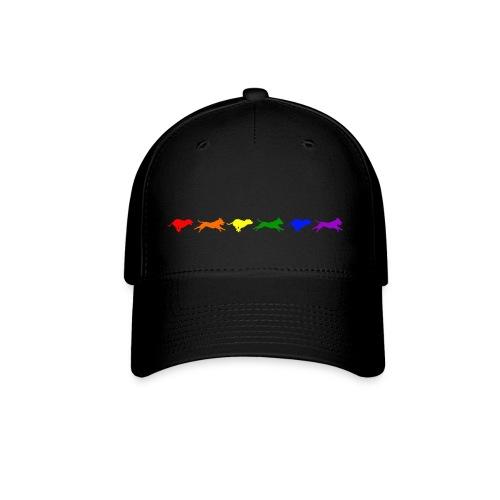 Staffy in Motion- Rainbow - Baseball Cap