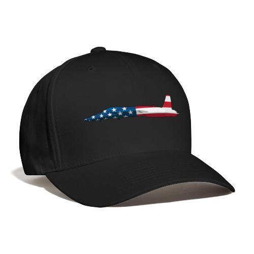 American Flag Military Jet - Baseball Cap