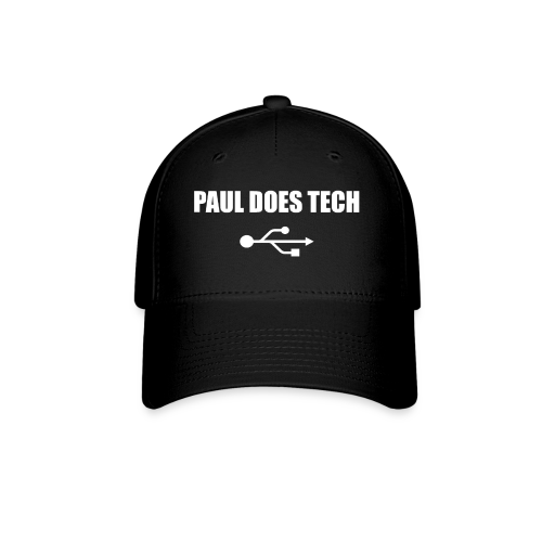 Paul Does Tech White Logo With USB - Baseball Cap