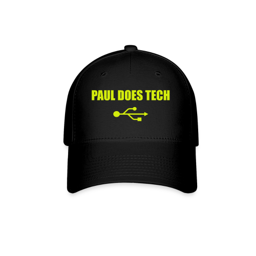 Paul Does Tech Yellow Logo With USB (MERCH) - Baseball Cap