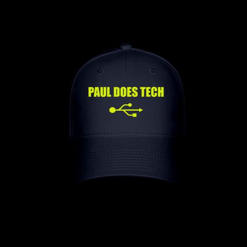 Paul Does Tech Yellow Logo With USB (MERCH) - Baseball Cap