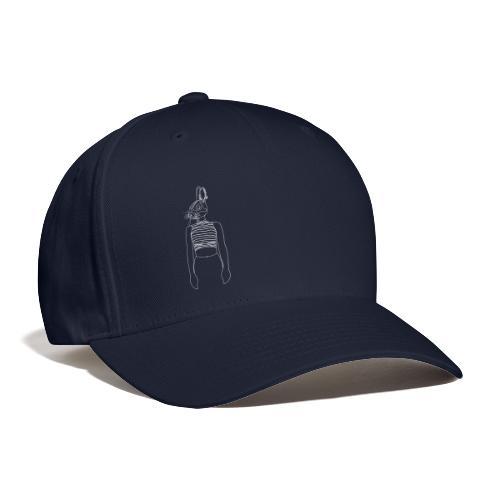 Hipster Rabbit White - Baseball Cap