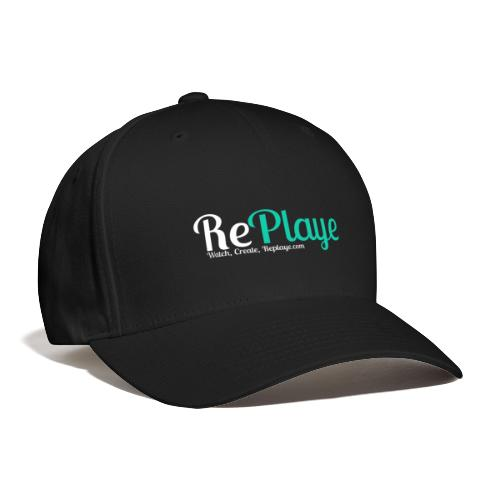 Replaye White on Black - Baseball Cap