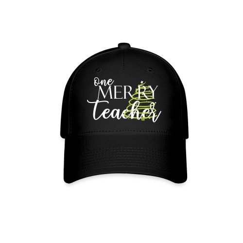 One Merry Teacher Christmas Tree Teacher T-Shirt - Baseball Cap